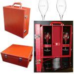 Coffret flûtes champagne personnalisées rouge