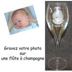 Lot de 2 Flûtes à champagne Parrain Marraine
